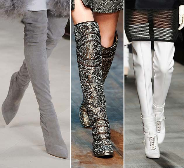 fall winter 2014 2015 shoe trends knee and thigh high