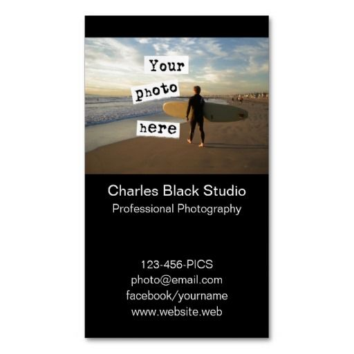 445 best photo business cards images on pinterest lyrics text your photo simple black business card template accmission Gallery