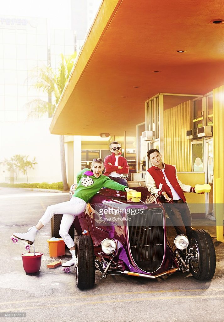 Actors Eden Sher, Atticus Shaffer are and Charlie McDermott are photographed for Emmy magazine on March 24, 2013 in Los Angeles, California.