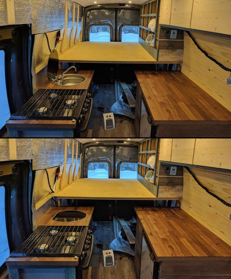 Sink Stove Cabinet Of Our Ford Transit Camper Van Conversion Materials Tools