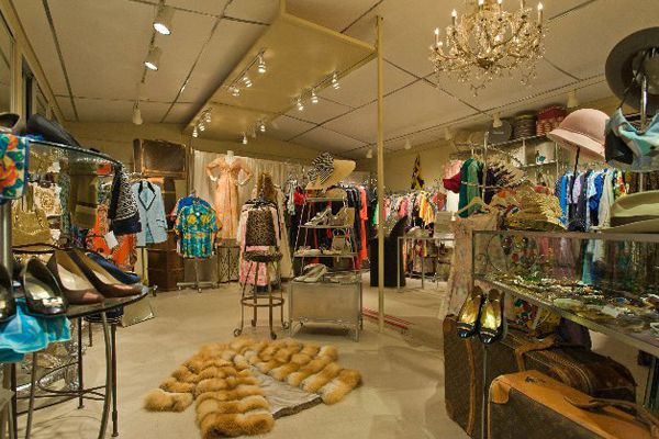 Palm Springs Vintage hunting:    Resale Therapy, 4109 East Palm Canyon Drive (at Cherokee Way); 760-321-6556.  Hint: Make sure to hit up the Déjà Vu Room in the back.    Revivals, 611 South Palm Canyon Drive (at East Camino Parocela); 760-318-6491.    Shop Space (Prada and Miu Miu) at Desert Hills Premium Outlets, 48400 Seminole Road (near South Linden Way); 951-849-6641.