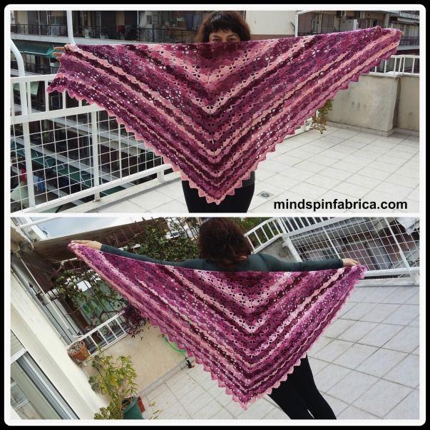 Easy crochet shawl for begginers. #εύκολο #σάλι με #βελονάκι για αρχάριους.