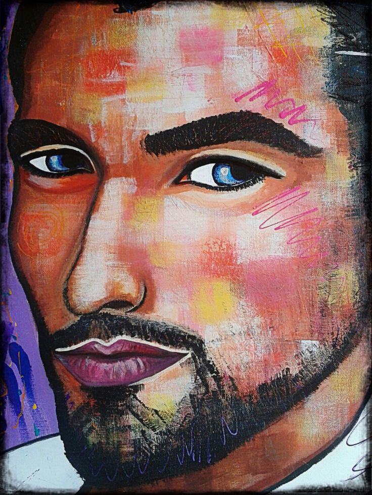 my Gandy by STEFANO (only the face)detail portrait,painting,painter,acrylic,man,fashion,supermodel,david gandy,fineart,art,faces,modernpainting
