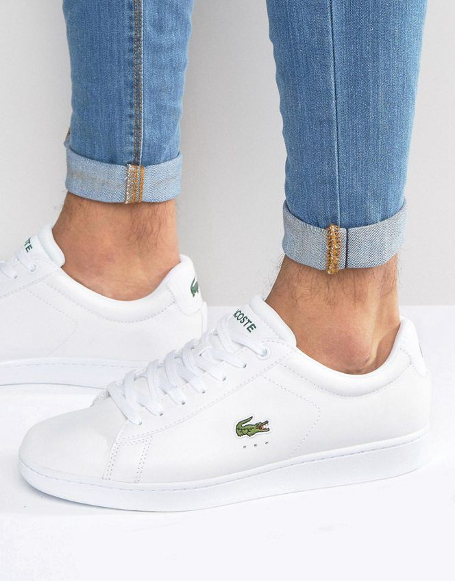 f9137b4ec90f2c Lacoste Carnaby Evo Leather Trainers