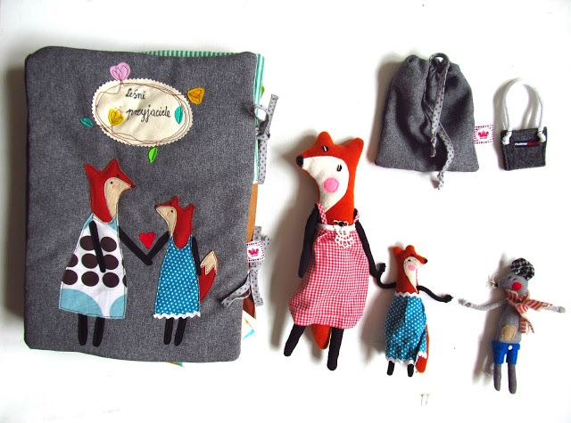 Children quit book about little fox, and mum , design by agatownik