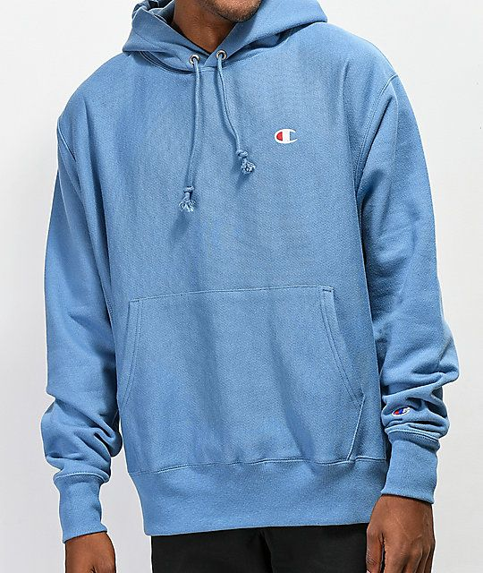 Champion Reverse Weave Mylar Blue Hoodie in 2019  ee26cbac5135