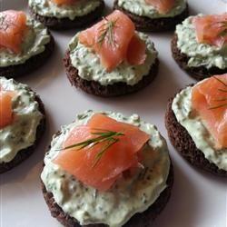 Smoked Salmon & Spinach Tea Sandwich Recipe