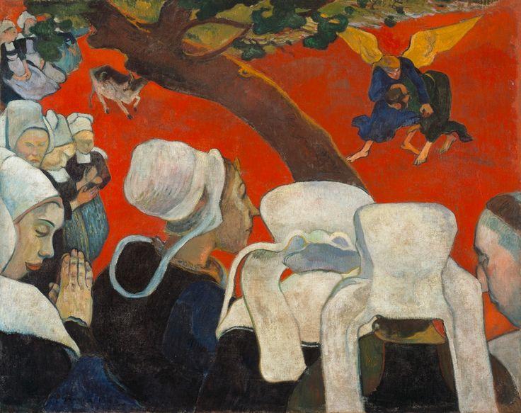 Paul Gauguin, 'La Vision du sermon', 1888 Huile sur toile, 72,2 x 91 cm Scottish National Gallery, Édimbourg  Format imprimable: 23 x 30 cm