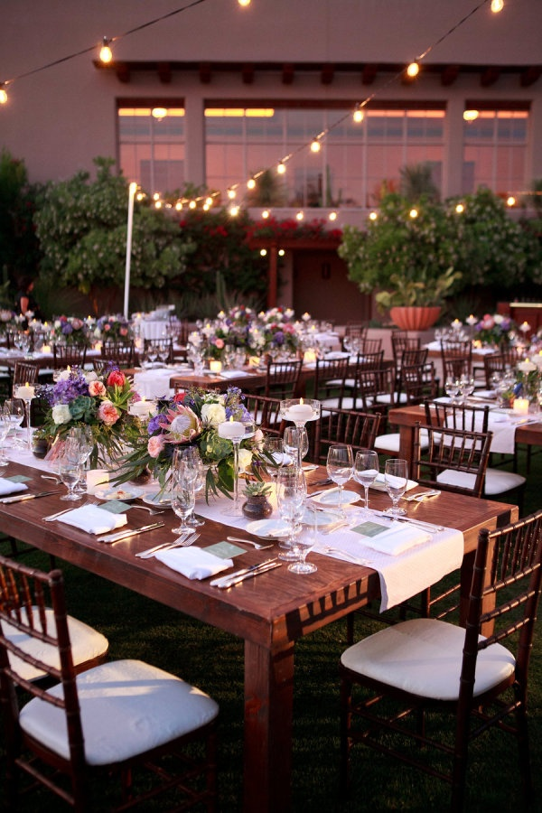 Low strung lights twinkled above this gorgeous al fresco @Four Seasons Resort Scottsdale at Troon North meal.