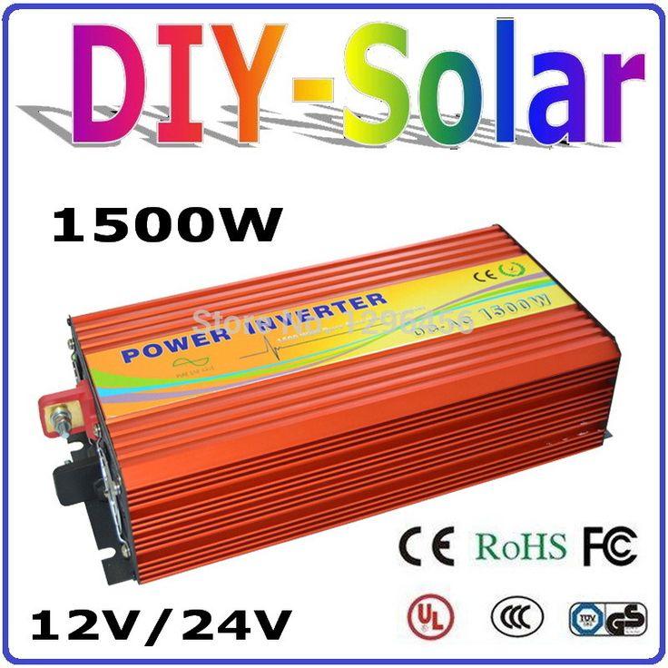 2016 NEW 1500W Solar Wind Power Off Grid Inverter DC12V 24V TO AC 220V 110V Pure Sine Wave Output Solar/Wind/Car/Power Converter