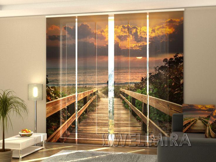 die besten 25 schiebevorhang set ideen auf pinterest schiebevorhang trenner ideen und. Black Bedroom Furniture Sets. Home Design Ideas