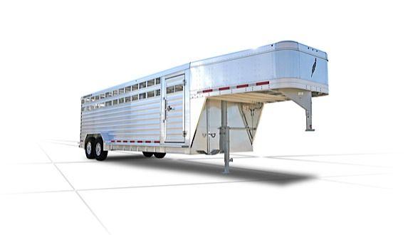 Gooseneck Livestock Trailers - 8127 Livestock Trailer - Featherlite Stock Trailers