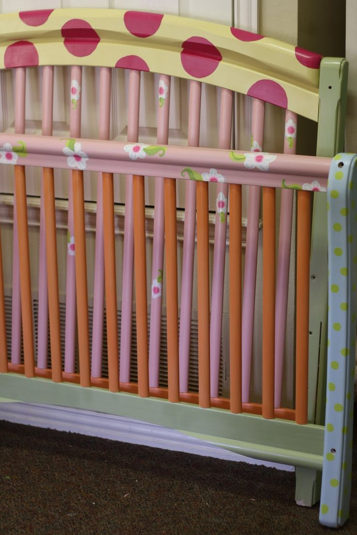 painted baby furniture. love the painted bed wish i could paint baby furniture