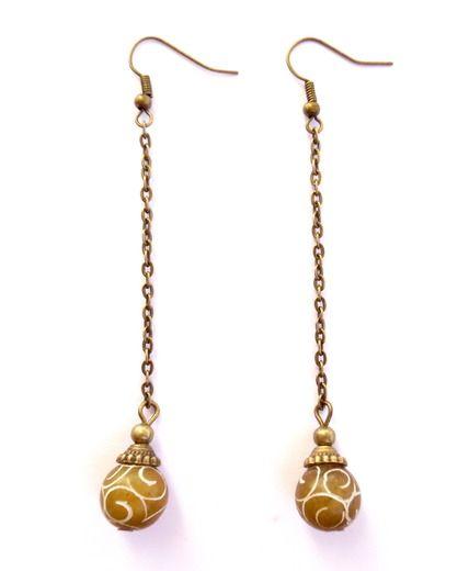 Örhängen med pärlor av xiu jade