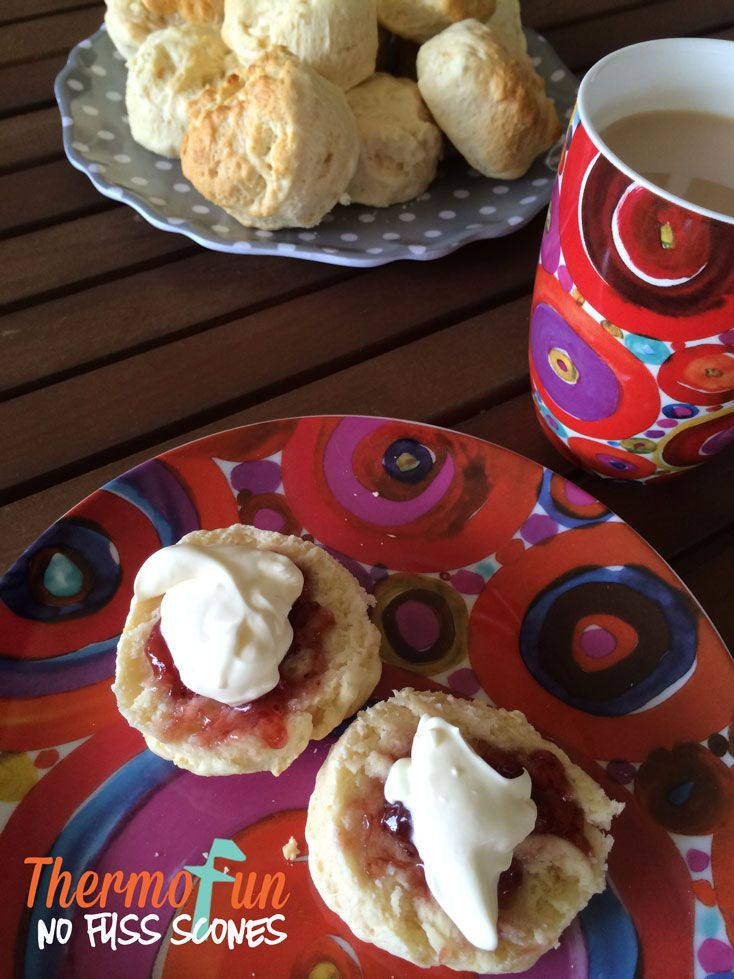 """Kids afternoon tea or guests """"drop by"""" serve up some amazing Thermomix Scones in under 20 minutes! Your kids & guests will be claiming """"best scones ever!"""""""