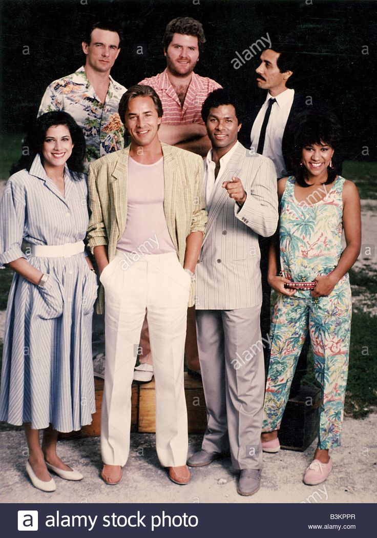 Miami Vice Us Tv Series With Don Johnson (in White Trousers) And Stock Photo, Royalty Free Image: 19489311 - Alamy