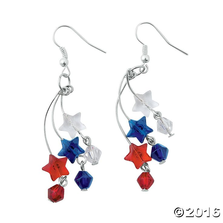 Your 4th of July crafts and summer beading supplies aren't complete without the razzle dazzle of this Patriotic Firework Earrings Craft Kit! Get out your ...