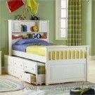 Tempat Tidur Anak Minimalis Laci Putih