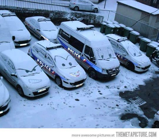 Disney Cars in the snow;)
