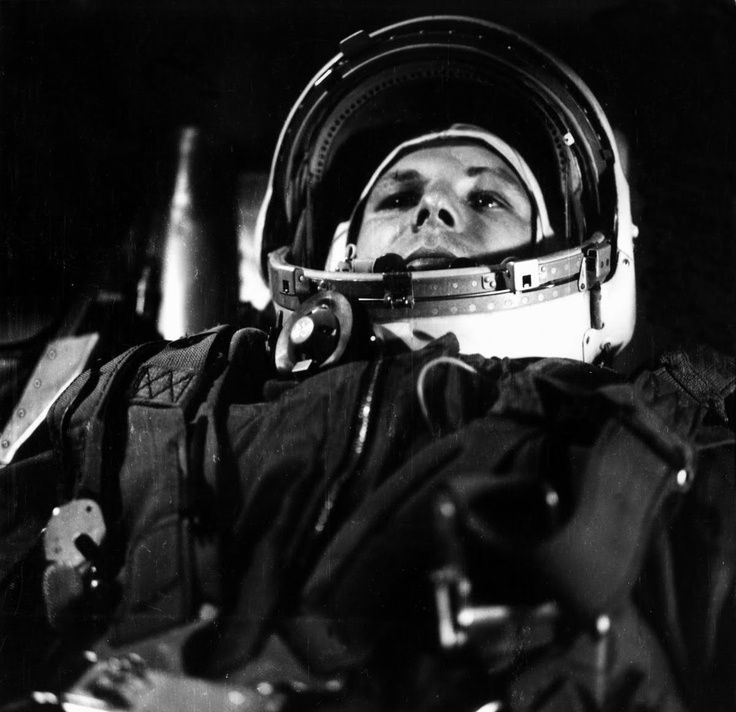 Yuri Gagarin, the first human to journey into outer space.