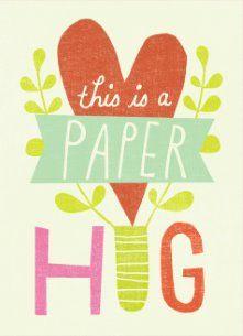 Zomaar kaart - this-is-a-paper-hug