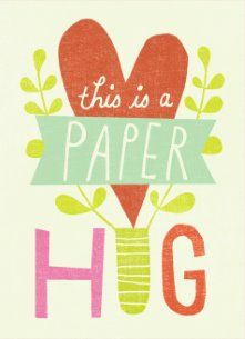 Zomaar kaart - this-is-a-paper-hug