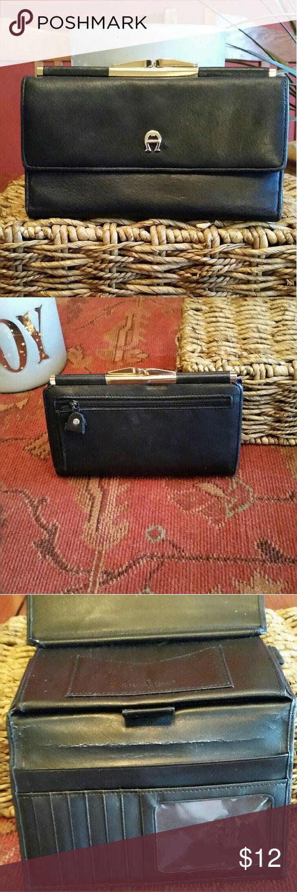 Etienne aigner black leather gloves - Vintage Etienne Aigner Black Leather Wallet Very Good Condition Shows No Signs Of Wear