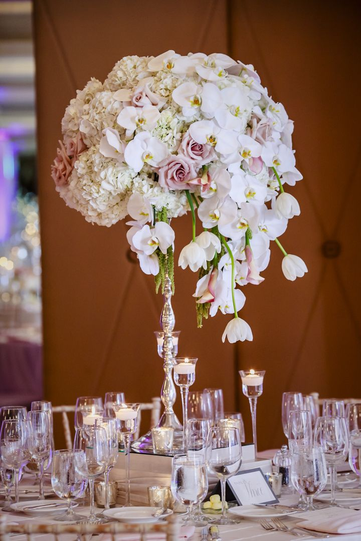 274 best tall centerpieces images on pinterest for Wedding floral centerpieces