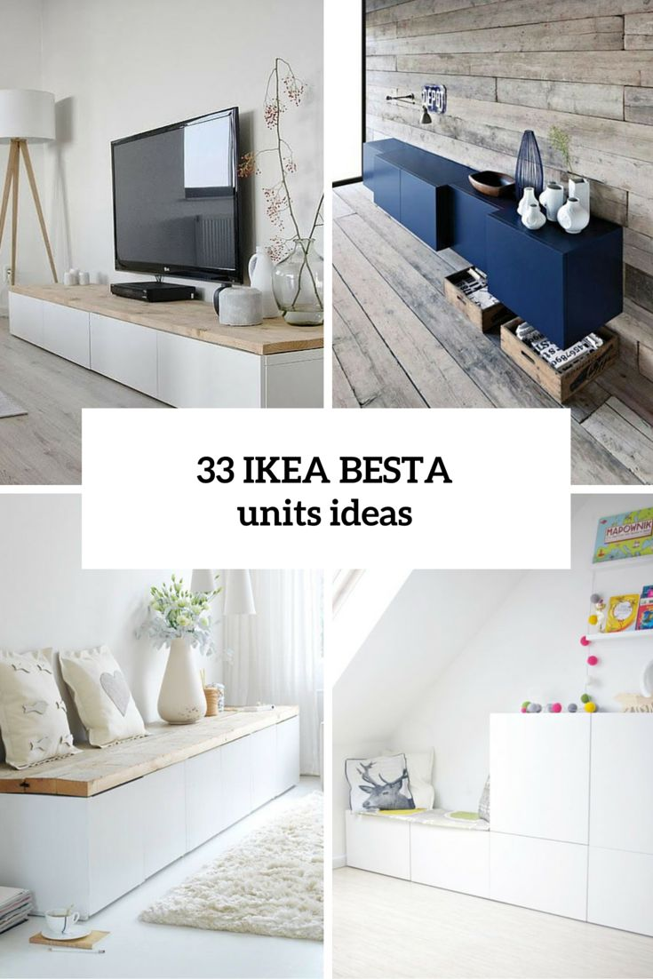 33 Ways To Use IKEA Besta Units In Home Décor- the blue set up in this pic is awesome