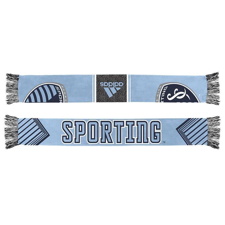 Adult Adidas Sporting Kansas City Authentic Draft Scarf, Men's, Blue