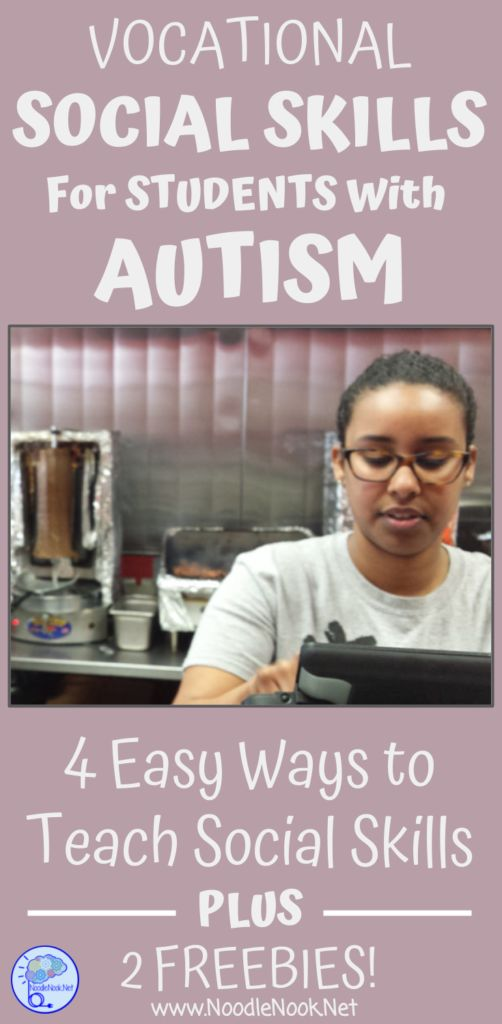 Social skills for students with Autism is hard to teach, but a must have! Here are 4 strategies to teach vocational social skills...| NoodleNook