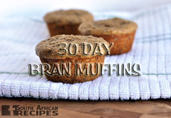 South African Recipes   30 DAY BRAN MUFFINS
