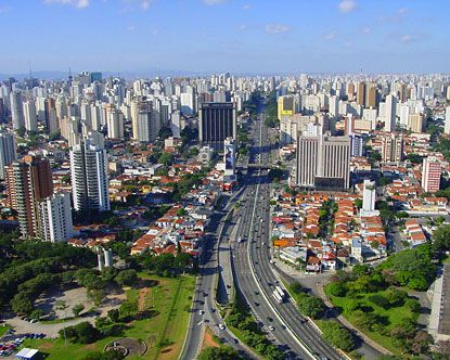 Sao Paulo, Brazil.  I traveled here in May 2001.  What a country!