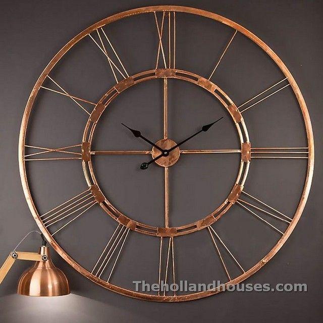 Large Metal Wall Art Clocks Lampu Gantung Jam Dinding Lampu