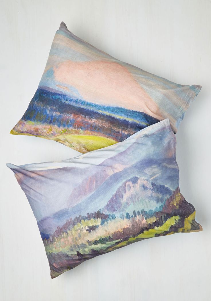Beguiling Brushstrokes Pillowcase Set. Let this enchanting pair of pillow shams add a flair of the fine arts to your already breathtaking boudoir! #multi #modcloth