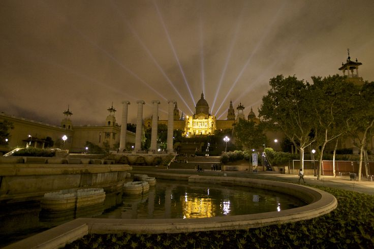 The national museum of Catalan Art at night #Barcelona #MNAC #Museum #Art