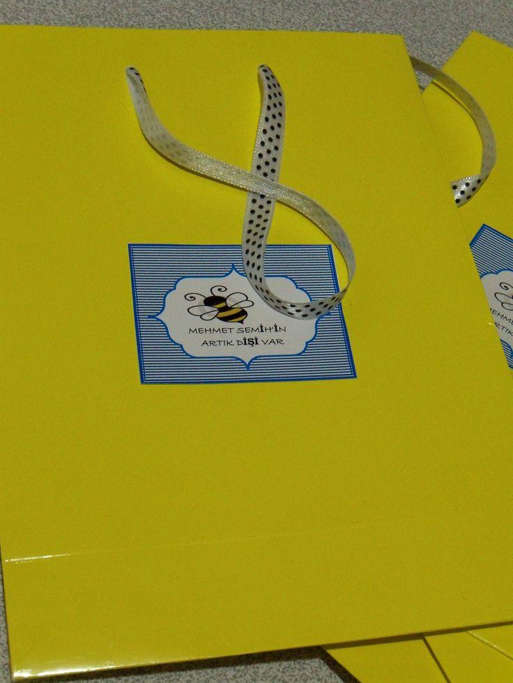 parti için gelenlere   hediyelik çantalar