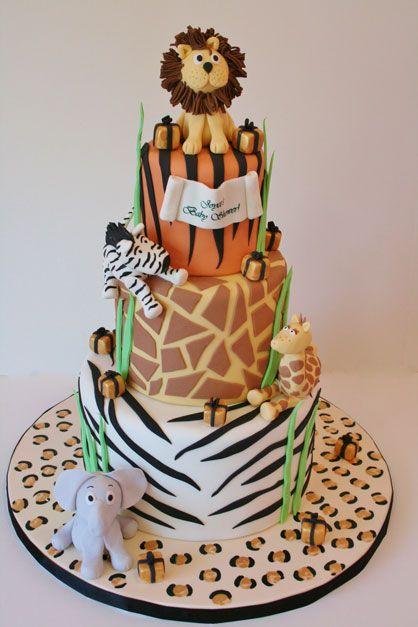 Baby Shower Cakes New Jersey - Animal Print Custom Cakes