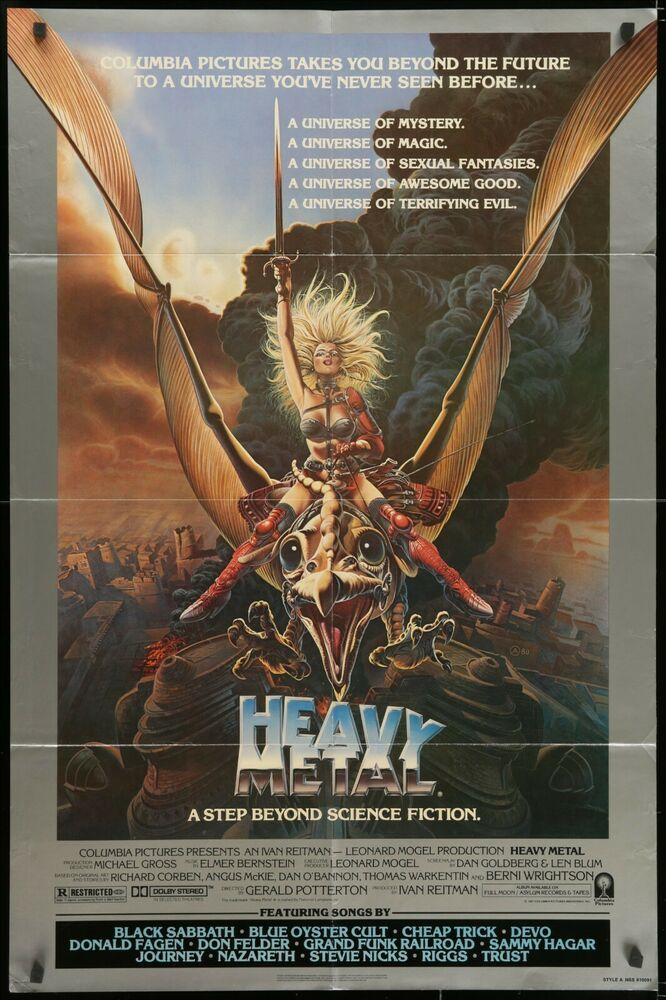 Heavy Metal 1981 Original Movie Poster Fantasy Animation Heavy Metal Movie Heavy Metal 1981 Heavy Metal