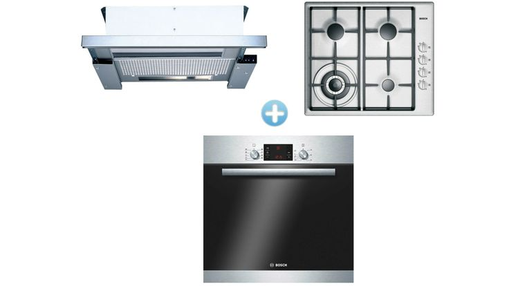Bosch Cooking Package with Built-in Oven and Gas Cooktop and Rangehood