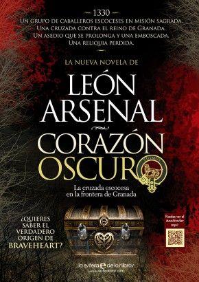 Anuncio para prensa impresa que he realizado para la novela Corazón oscuro de León Arsenal editada por La Esfera de los Libros