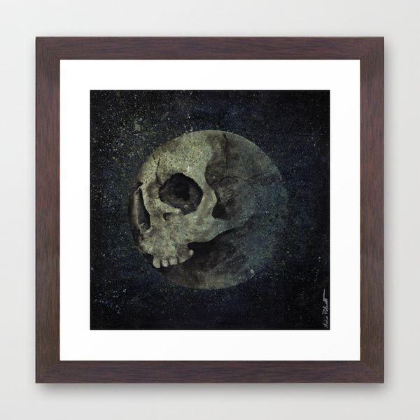 """Wrong Half Of The Moon"" framed print at @society6 • https://society6.com/product/wrong-half-of-the-moon_framed-print#12=63&13=55 • #art #arte #prints #stampe #fineartprint #fineart #skull #teschi #moon #luna #horror #scary #macabre #dark #illustration #illustrazione #society6 #gicleé #gicleeprint #framedprint  #cornici #abstract #astratto #wallart #walldecor #arredamento #arredo #poster #kissmyart #acryl #acrilic #painting #dipinto #quadro #walnutframe #artprint #artprints"