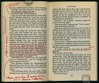 David Foster Wallace's margin notes on Stephen King's Carrie