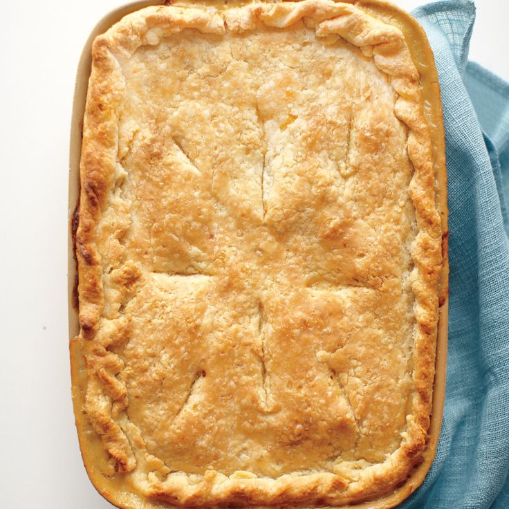 A buttery crust is always a winner, but when it comes to potpie, it's what's inside that counts. Try this classic version; then explore these fresh filling ideas: Curried Chicken; Mushroom-Marjoram Chicken; Tomato-Corn Chicken.