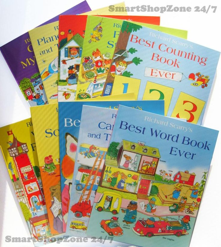 Richard Scarry BEST WORD BOOK EVER 10 books Collection Gift Set Playset NEW $48.99