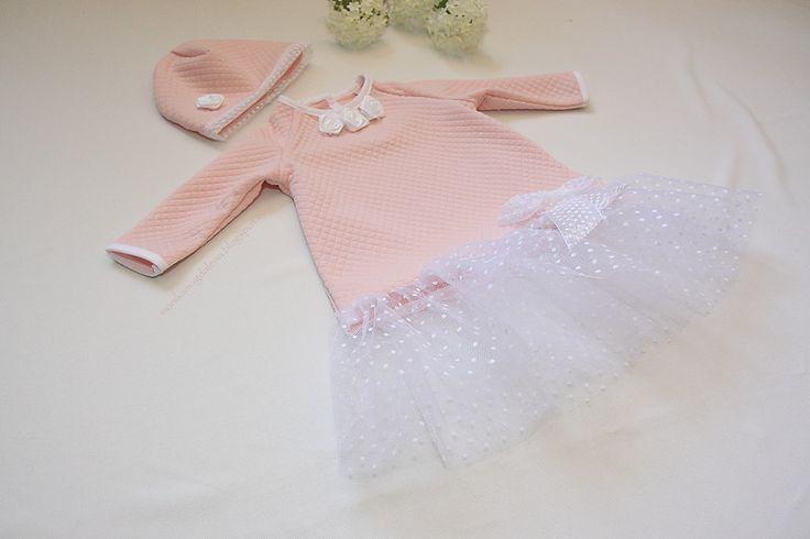 """Sukienka dziecięca  """"Pudrowe Marzenie""""  w Monika Magdalena  na DaWanda.com"""