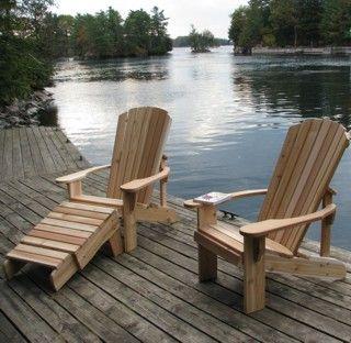 Muskoka Chairs Adirondack Chairs - Dock Set