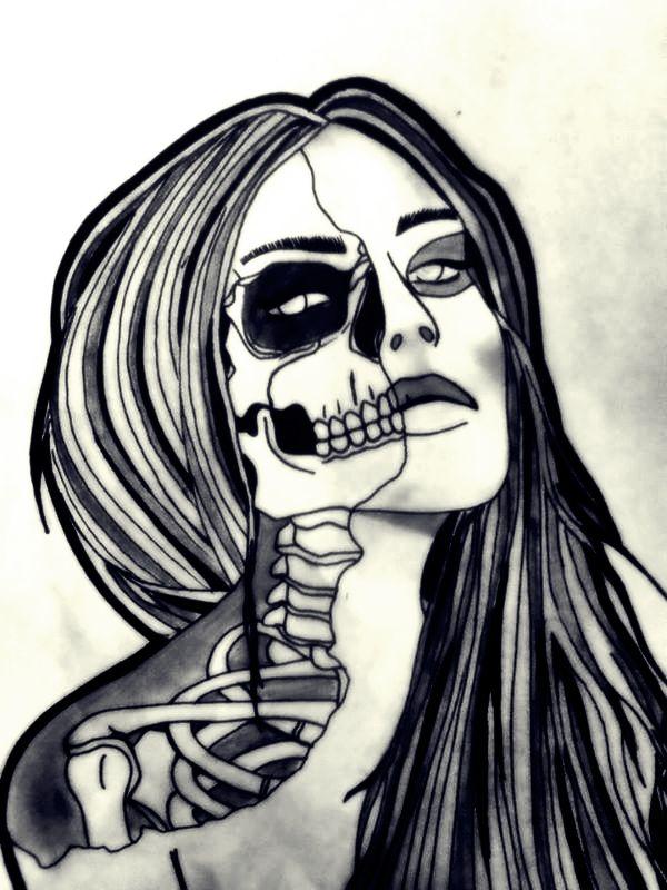 skull girl design