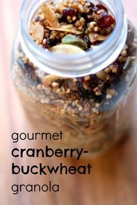 The 25 best gluten free jar recipes gifts ideas on pinterest buckwheat granola recipe gluten free giftsgluten free jar negle Choice Image
