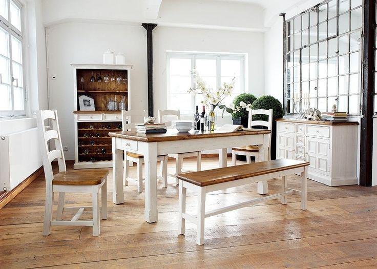 Tischgruppe Linz Esstisch mit Sitzbank und 4 Stühlen Holz Buche